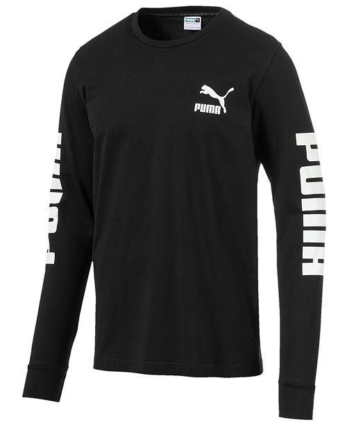 Puma Men's Classics Long-Sleeve Logo T-Shirt