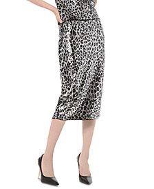Michael Michael Kors Sequined Animal-Print Skirt
