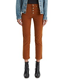 724 High-Rise Corduroy Button-Fly Jeans