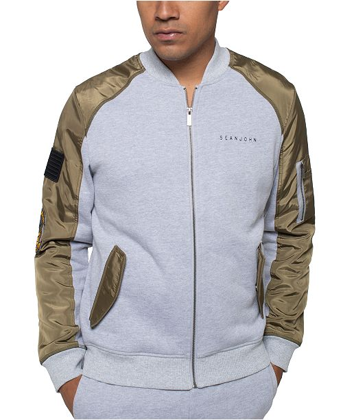 Sean John Men's Bomber Track Jacket