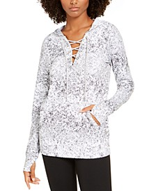 Snake-Print Lace-Up Hoodie, Created for Macy's