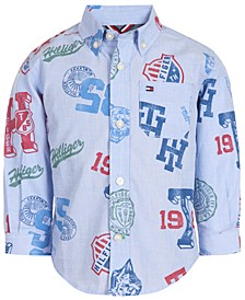 Baby Boys Cotton Logo Button-Down Shirt