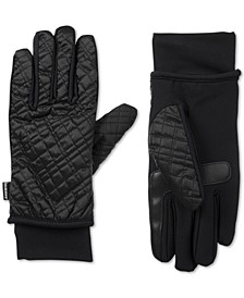 isotoner Women's SleekHeat® Quilted Gloves with smarTouch® Technology