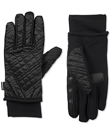 Isotoner SleekHeat Quilted Gloves With smarTouch