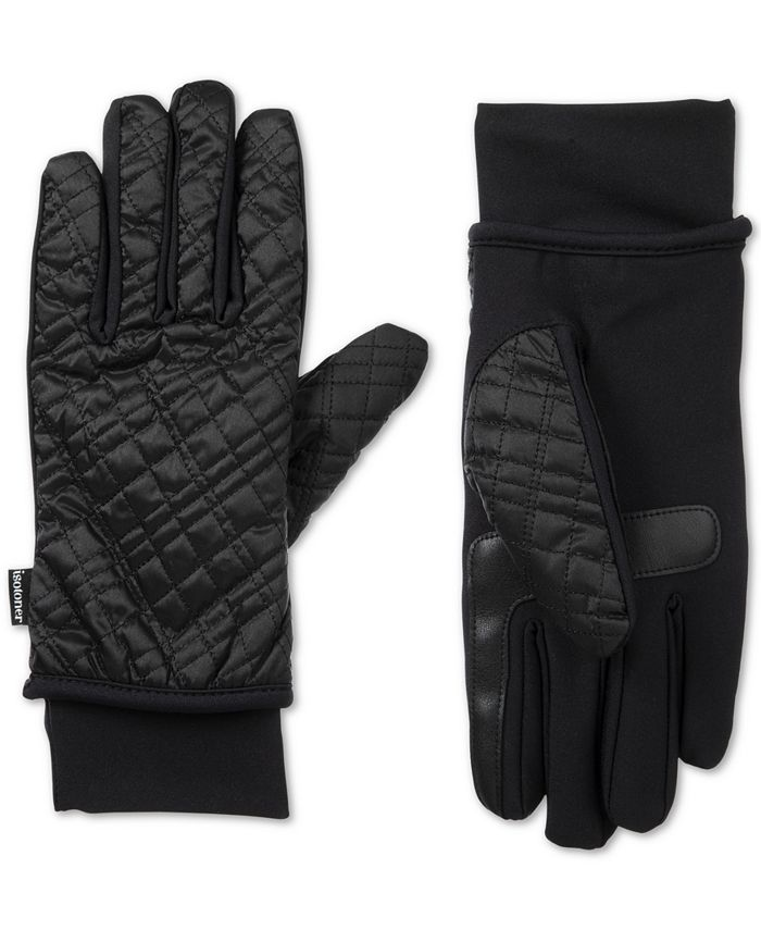 Isotoner Signature - SleekHeat Quilted Gloves With smarTouch