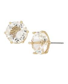 Miriam Haskell Stone Stud Earrings