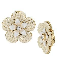 Miriam Haskell Flower Stud Earrings