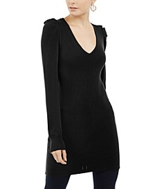 INC Petite V-Neck Tunic Sweater, Created For Macy's