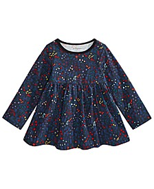 Baby Girls Holiday Floral Tunic T-Shirt, Created for Macy's