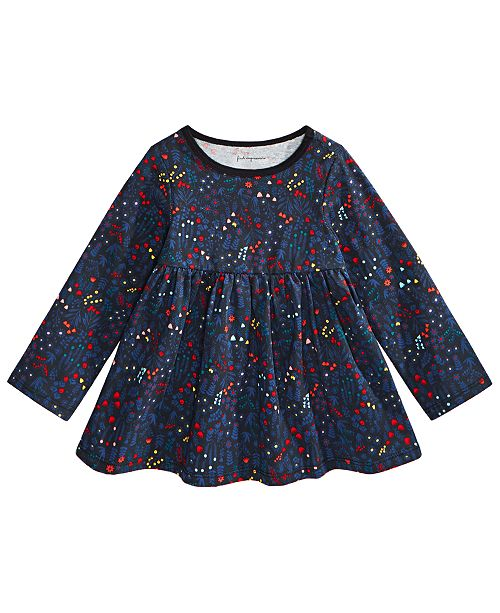 First Impressions Baby Girls Holiday Floral Tunic T-Shirt, Created for Macy's