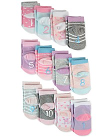 Baby Girls 12-Pk. Milestone Socks