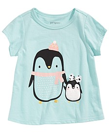 Baby Girls Penguins-Print Cotton T-Shirt, Created For Macy's