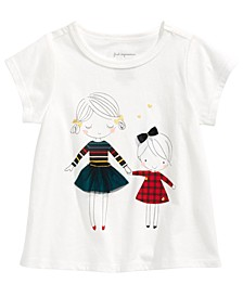 Baby Girls Sisters-Print Cotton T-Shirt, Created For Macy's