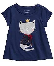 Baby Girls Cotton Queen Kitty T-Shirt, Created For Macy's