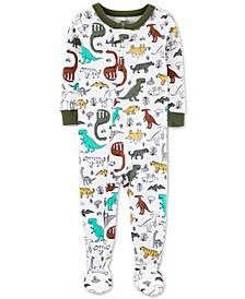 Baby Boys Cotton Footed Dinosaur Pajamas