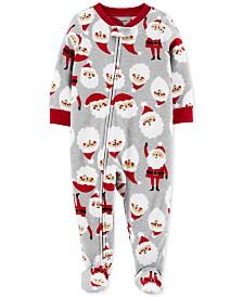 Carter's Toddler Boys Fleece Footed Santa Pajamas
