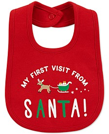 Baby Boys Cotton Santa Teething Bib