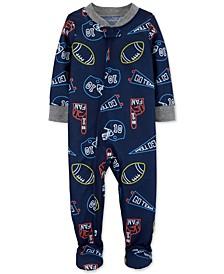 Baby Boys Footed Sports Pajamas