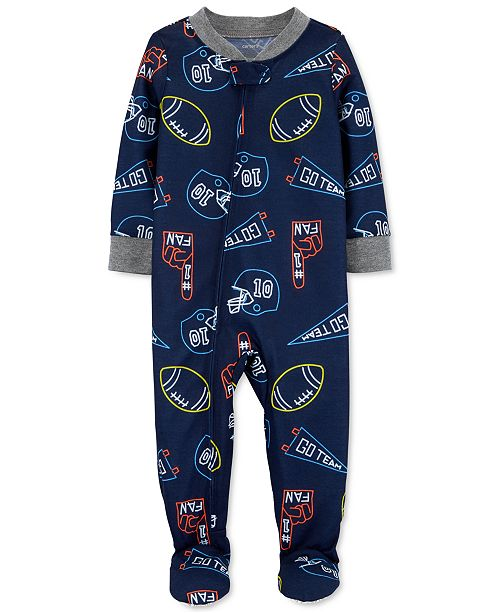 Carter's Baby Boys Footed Sports Pajamas