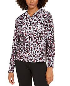 Jaguar-Print Logo Hoodie