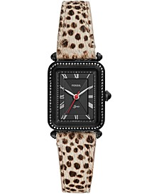 Women's Lyric Animal Print Leather Strap Watch 28mm