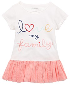 Baby Girls Cotton Love My Family T-Shirt, Created For Macy's