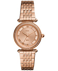 Women's Lyric Rose Gold-Tone Stainless Steel Bracelet Watch 32mm