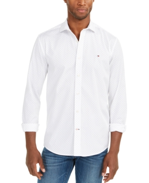 Tommy Hilfiger Men's Classic-fit Shirt In Bianco