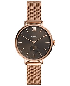 Women's Kalya Rose Gold-Tone Stainless Steel Mesh Bracelet Watch 36mm