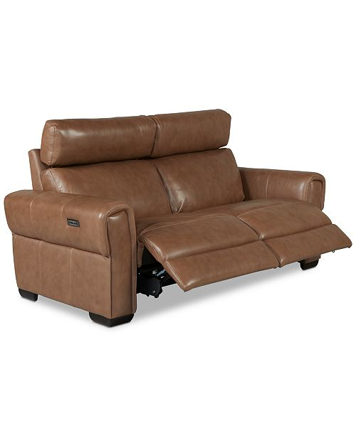 Furniture Josephia 2-Pc. Leather Sectional with 2 Power Recliners, Created For Macy's