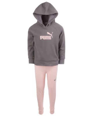 PUMA Girls Girls Zip Up Fleece Set Sweatsuit