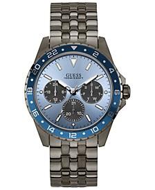 Men's Gray Stainless Steel Bracelet Watch 44mm