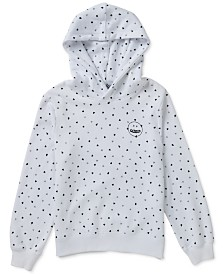 Volcom Big Girls Knew Wave Heart-Print Hoodie