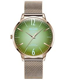 Women's Slim Rose Gold-Tone Stainless Steel Mesh Bracelet Watch 36mm