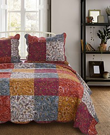 Paisley Slumber Quilt Set, 3-Piece Full/Queen