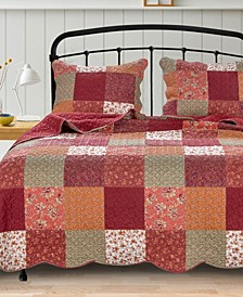 Country Fair Quilt Set, 3-Piece Full/Queen