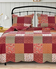 Barefoot Bungalow Country Fair Quilt Set, 3-Piece Full/Queen