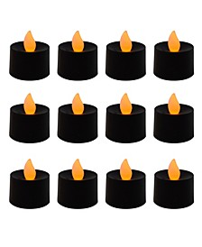 Lumabase Battery Operated LED Tea Light Candles, Set of 12