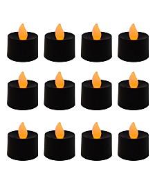 Lumabase Battery Operated LED Tea Light Candles, Set of 12