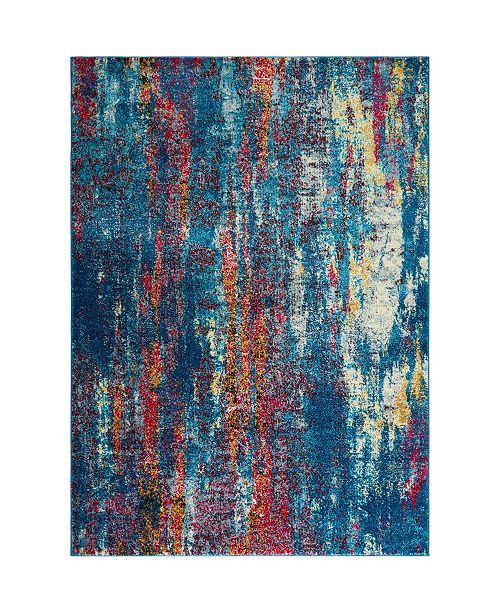 "Global Rug Designs CLOSEOUT! Global Rug Design Venus VEN10 Blue 5'3"" x 7'2"" Area Rug"