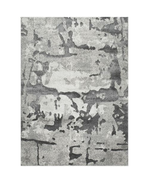 "Christian Siriano New York Christian Siriano Roma Pamir Gray 5'3"" x 7'2"" Area Rug"