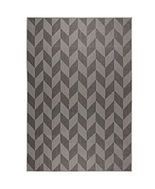 "Patio Country Calla Black 5'2"" x 7'2"" Area Rug"