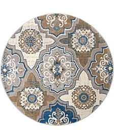"Haven HAV01 Taupe 7'10"" Round Area Rug"