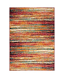 "Burst BUR04 Orange 5'2"" x 7'2"" Area Rug"