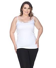 Plus Size Lace Trim Tank Top