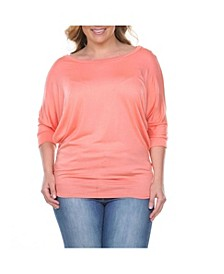 Plus Size Bat Sleeve Top/Tunic