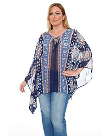 Plus Size Breeze Poncho Top/Tunic