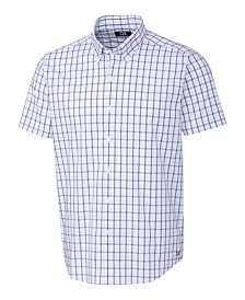 Cutter & Buck Men's Soar Windowpane Short Sleeve