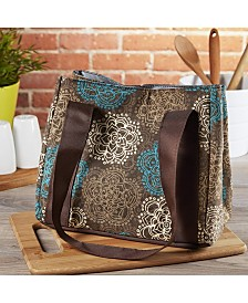 Fit & Fresh Women's Venice Insulated Lunch Bag with Ice Pack, Stylish Adult Lunch Bag for Work or School
