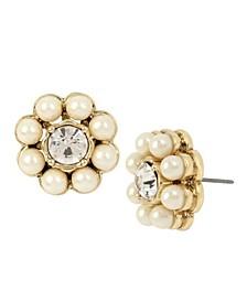 Stone Flower Stud Earrings